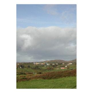 Colorful Irish Village Scene. Large Business Card