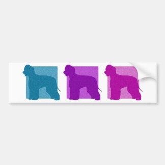 Colorful Irish Water Spaniel Silhouettes Bumper Sticker