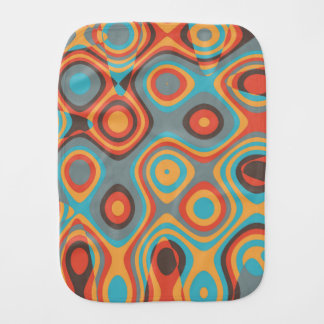 Colorful irregular shapes burp cloth
