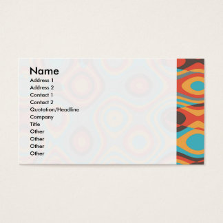 Colorful irregular shapes business card