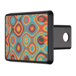 Colorful irregular shapes hitch cover