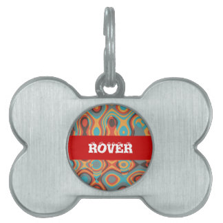Colorful irregular shapes pet tag