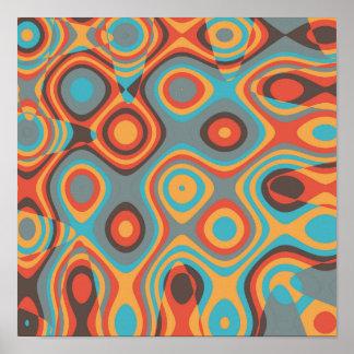 Colorful irregular shapes poster