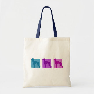 Colorful Italian Greyhound Silhouettes Canvas Bag