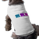 Colorful Jack Russell Terrier Silhouettes Dog T-shirt
