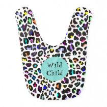 Colorful Jaguar Animal Print Baby Bib
