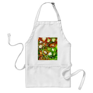 Colorful Jalapeno Pepper Slices Adult Apron