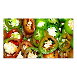 Colorful Jalapeno Pepper Slices Business Card