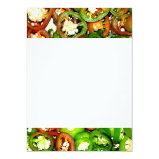 Colorful Jalapeno Pepper Slices Card