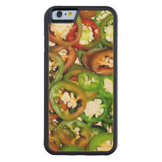 Colorful Jalapeno Pepper Slices Carved Maple iPhone 6 Bumper Case
