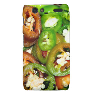 Colorful Jalapeno Pepper Slices Motorola Droid RAZR Covers