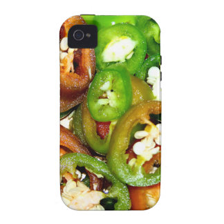 Colorful Jalapeno Pepper Slices iPhone 4/4S Covers