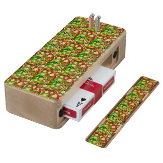 Colorful Jalapeno Pepper Slices Cribbage Board
