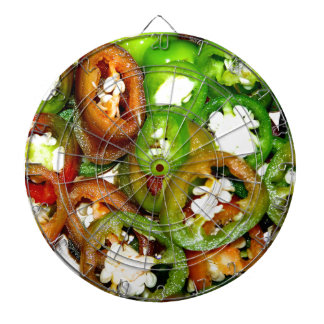 Colorful Jalapeno Pepper Slices Dart Boards