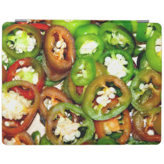 Colorful Jalapeno Pepper Slices iPad Cover