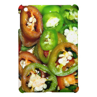 Colorful Jalapeno Pepper Slices Cover For The iPad Mini