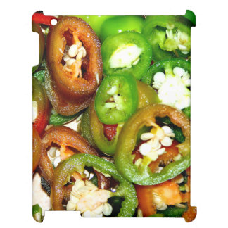Colorful Jalapeno Pepper Slices Cover For The iPad