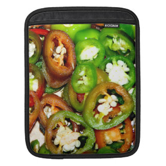 Colorful Jalapeno Pepper Slices iPad Sleeves
