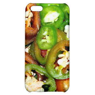 Colorful Jalapeno Pepper Slices iPhone 5C Cases