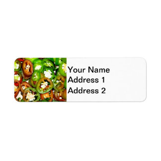 Colorful Jalapeno Pepper Slices Label