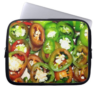 Colorful Jalapeno Pepper Slices Laptop Sleeve