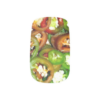 Colorful Jalapeno Pepper Slices Minx® Nail Wraps