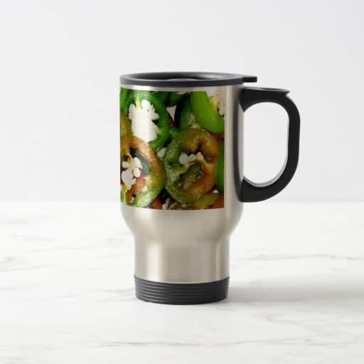 Colorful Jalapeno Pepper Slices Mugs