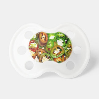 Colorful Jalapeno Pepper Slices Pacifier