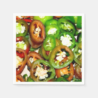 Colorful Jalapeno Pepper Slices Paper Napkin