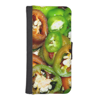 Colorful Jalapeno Pepper Slices iPhone 5 Wallet