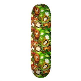 Colorful Jalapeno Pepper Slices Skate Board Decks