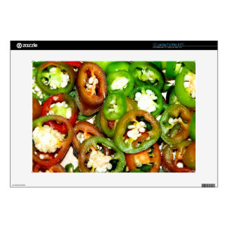 Colorful Jalapeno Pepper Slices Laptop Skin