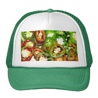 Colorful Jalapeno Pepper Slices Trucker Hat