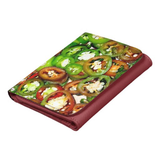 Colorful Jalapeno Pepper Slices Wallets