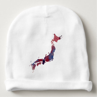 colorful japan silhouette baby beanie