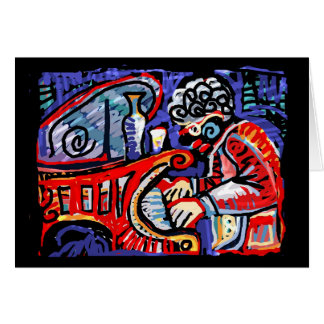 **Colorful Jazz** Greeting Card