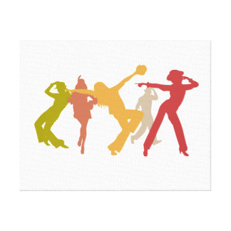 Colorful Jazz Dancers Gallery Wrapped Canvas