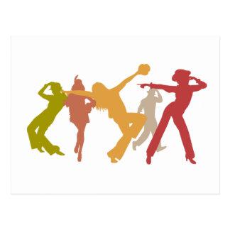Colorful Jazz Dancers Postcard