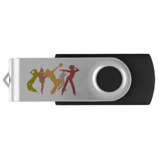 Colorful Jazz Dancers USB Flash Drive