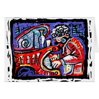 *Colorful Jazz* Greeting Card