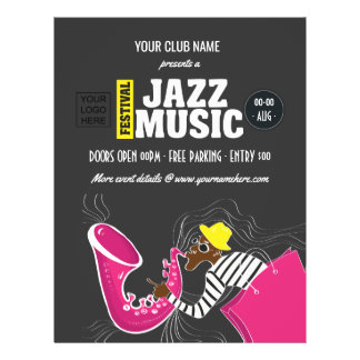 Colorful Jazz Music Festival Flyer