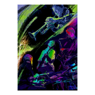 Colorful Jazz Poster