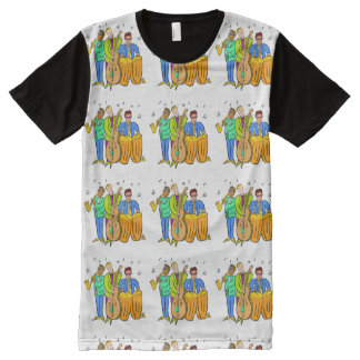 Colorful Jazz Trio Band Group Music All-Over-Print Shirt