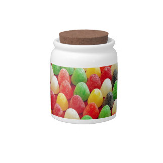 Colorful jelly candy print candy dish