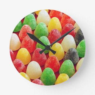Colorful jelly candy print clock