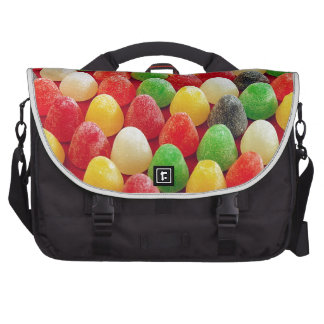 Colorful jelly candy print commuter bag