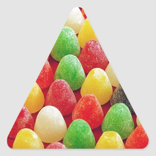Colorful jelly candy print triangle sticker