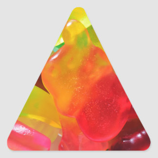 colorful jelly gum texture triangle sticker