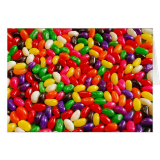 Colorful jellybean candy card