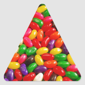 Colorful jellybean candy triangle sticker